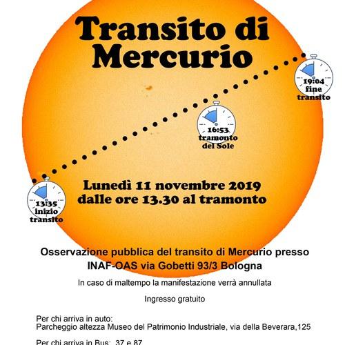 Locandina Transito Mercurio2019