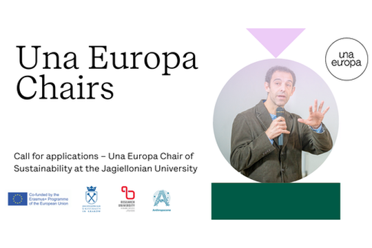 Call for applications – Una Europa Chair of Sustainability at the Jagiellonian University. Scadenza: 1 maggio